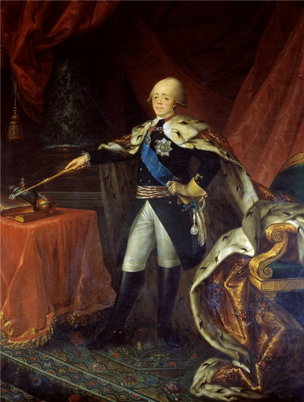 Портрет императора Павла I Николая Аргунова фото