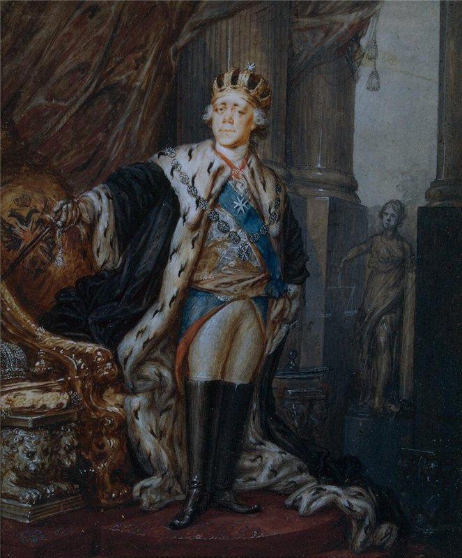 Портрет Павла I в костюме гроссмейстера Мальтийского ордена Степана Щукина фото