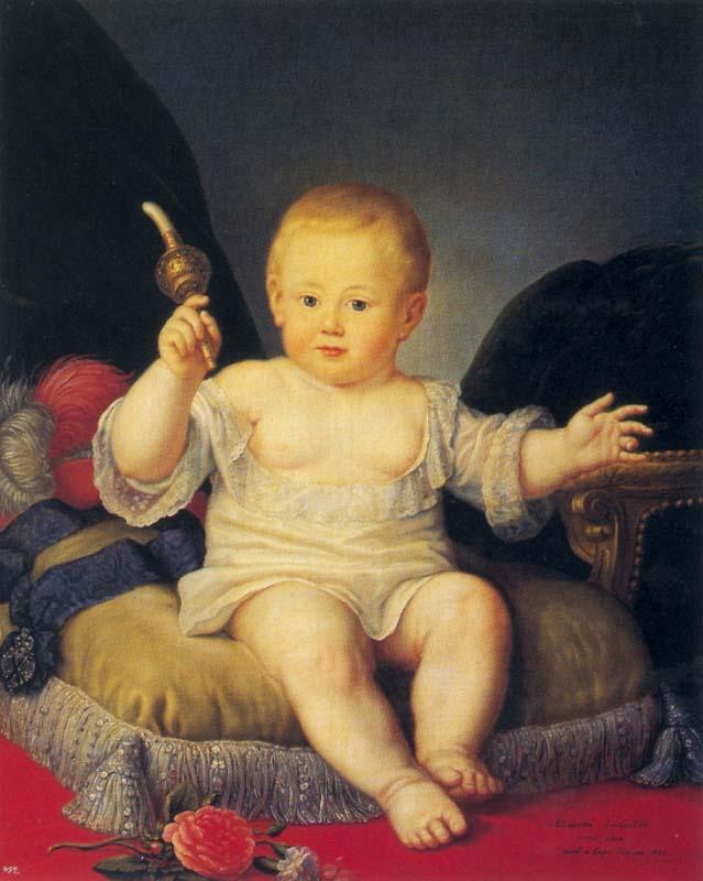 Портрет великого князя Александра Павловича в детстве неизвестного художника фото