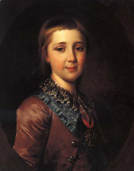 Портрет Александра Павловича в детстве 1787 года фото