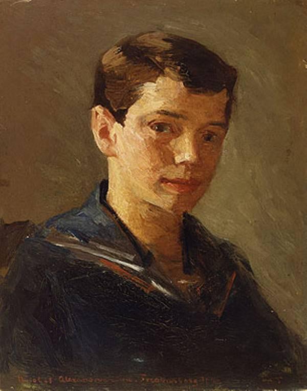 Детский портрет Николая II 1883 года Лаурица Туксена фото