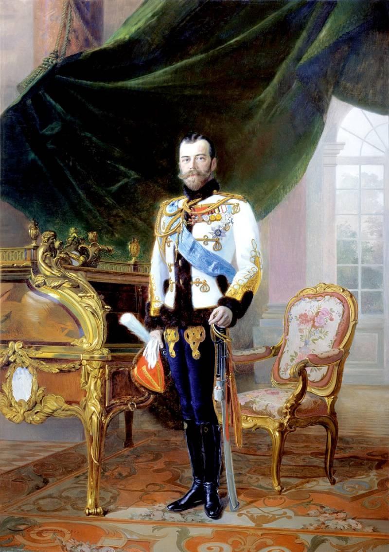 Портрет Николая II 1896 года Эрнеста Липгарта фото