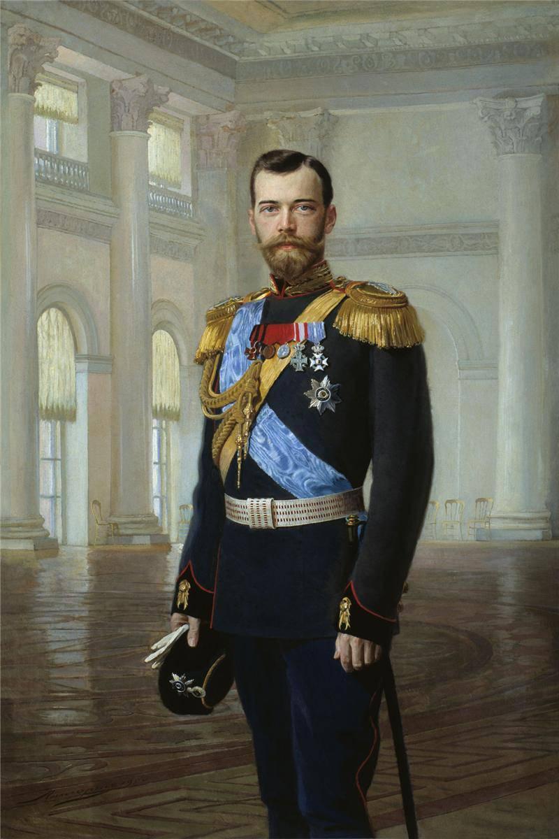 Портрет Императора Николая II 1900 года Эрнеста Липгарта фото