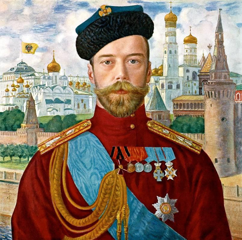 Портрет Императора Николая II Бориса Кустодиева фото
