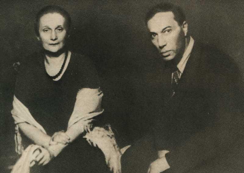 Фото Анны Ахматовой и Бориса Пастернака. Москва. 1946 год