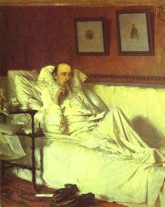 Портрет Н.А. Некрасова 1878 года Крамского Ивана фото