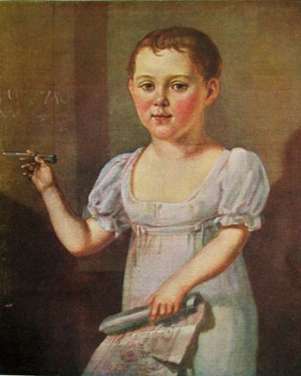 Портрет М.Ю.Лермонтов ребёнком 1817-1818 года неизвестного художника фото