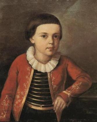 Портрет М.Ю.Лермонтов ребёнком 1820-1822 года неизвестного художника фото