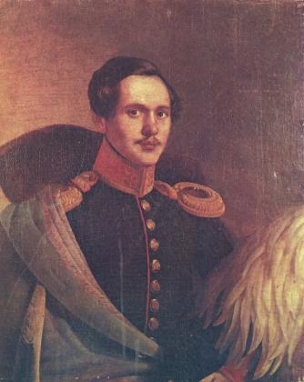 Портрет М.Ю. Лермонтов в вицмундире лейб-гвардии Гусарского полка 1834 года Ф.О.Будкина фото