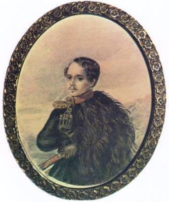 Автопортрет М.Ю.Лермонтова 1837-1838 года фото