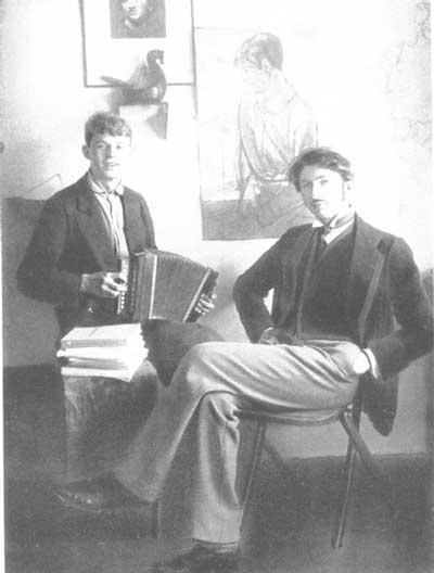 Фото Сергея Есенина и С.М. Городецкого 1915 год