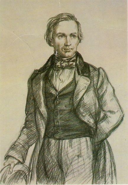 Портрет Алексея Кольцова Иванова Ю. В 1986 года фото