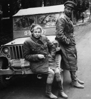 Фото Симонова Константина и Валентины Серовой 1944 год