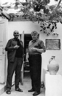 Фото Твардовского Александра с Константином Симоновым 1943 год