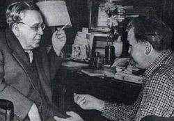 Фото Твардовского Александра с поэтом Самуилом Маршаком
