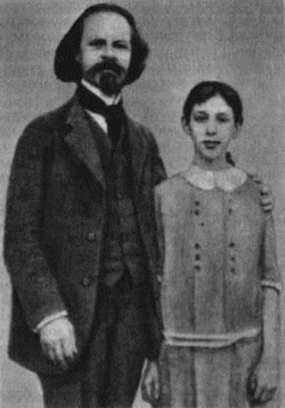 Фото Бальмонта Константина с дочерью Ниной 1913 год