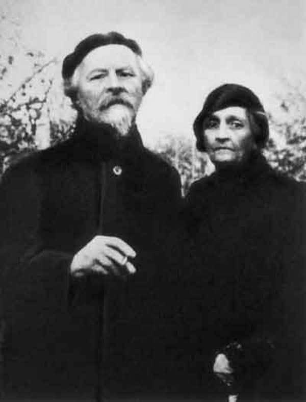 Фото Бальмонта Константина и Е.К.Цветковская конец 1930-х годов