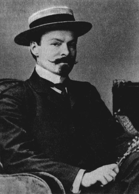 Фото Бальмонта Константина в шляпе