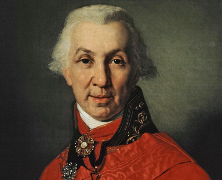 Портрет Державина Гаврилы В. Боровиковский 1811 года