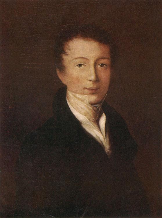 Портрет Тютчева Федора неизвестного художника 1819–1820 года фото