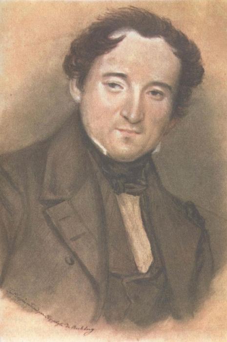 Портрет Тютчева Федора И. Рехберга 1838 года фото