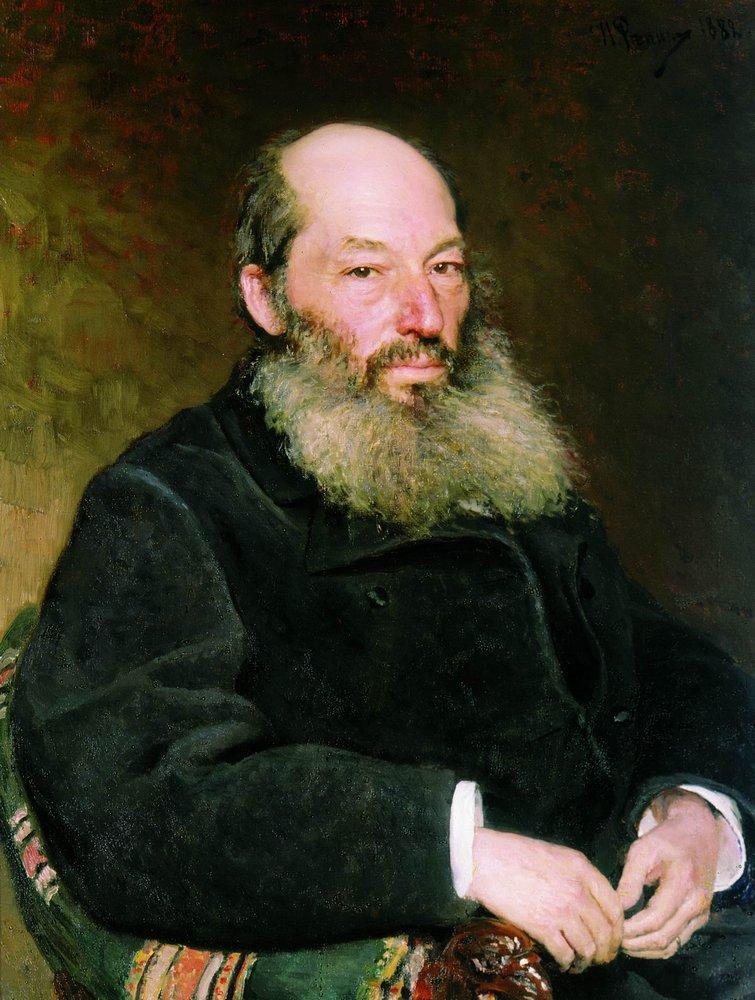 Портрет Фета Афанасия Ильи Репина 1882 года фото