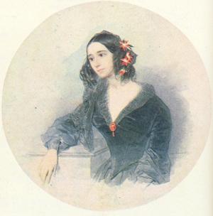 Портрет Евдокии Ростопчиной Соколова 1842-1843 года фото
