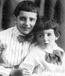 Фото Галича Александра с младшим братом Валерием 1928 год