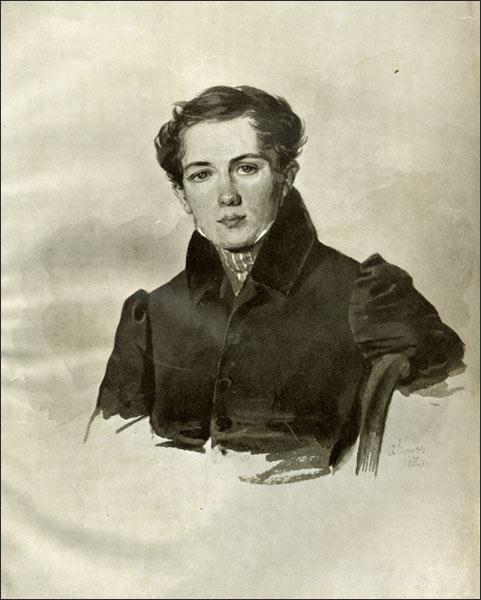 Портрет Батюшкова Константина П. Ф. Соколова 1830 года фото