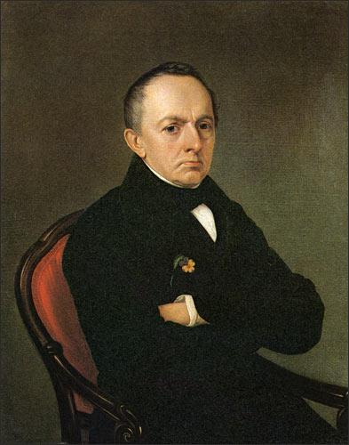 Портрет Батюшкова Константина неизвестного художника 1850-х годов фото