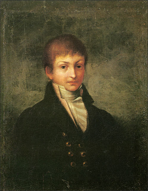 Портрет Батюшкова Константина неизвестного художника 1800-х годов