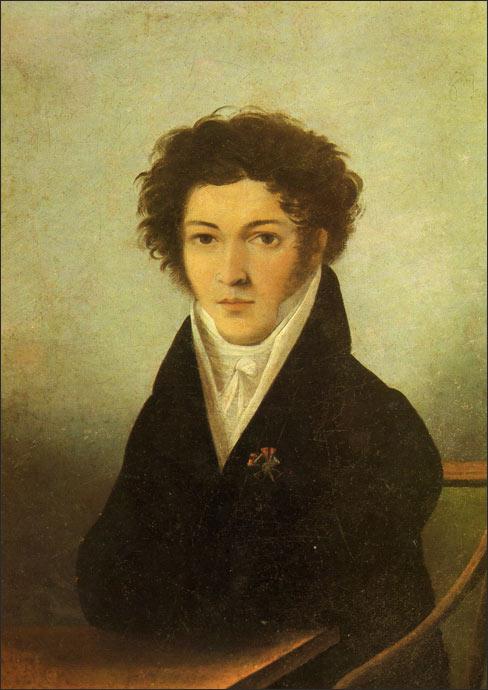 Портрет Батюшкова Константина неизвестного художника 1810 года фото