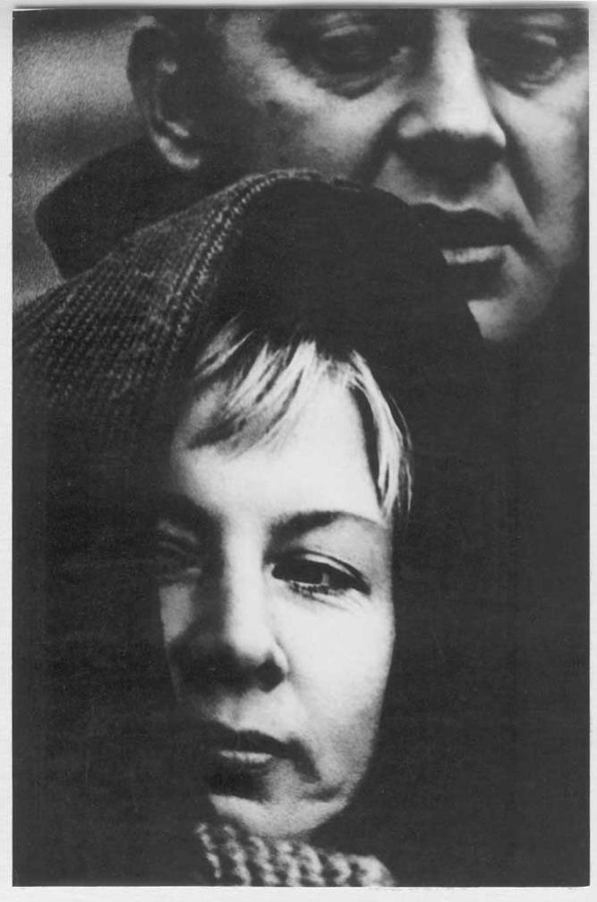 Фото Визбора Юрия с Аллой Демидовой на съемках фильма «Ты и я». Ялта, 1971 год
