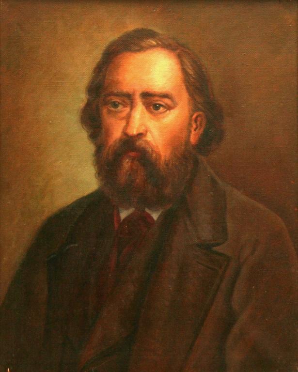 Портрет Николая Огарева неизвестного художника 1870-е года фото