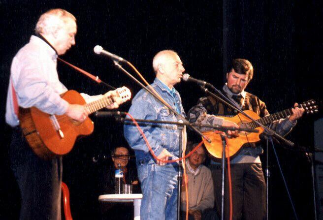 Фото Городницкого Александра на концерт в Беер-Шеве 1995 год