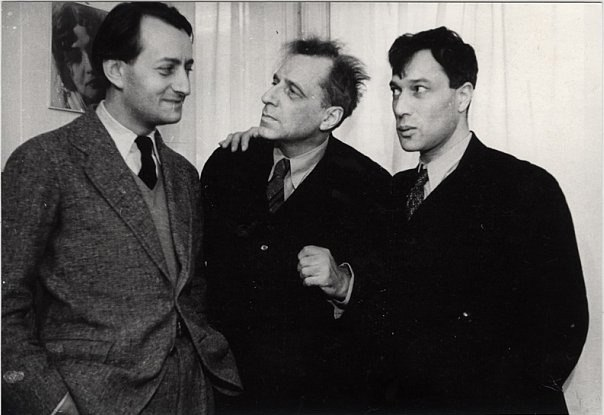 Фото Бориса Пастернака с Андре Мальро и Всеволодом Мейерхольдом 1936 год