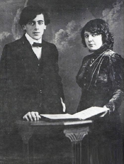 Фото Марины Цветаевой и С.Я. Эфроном свадебное 1912 год