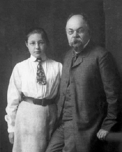 Фото Марины Цветаевой с отцом