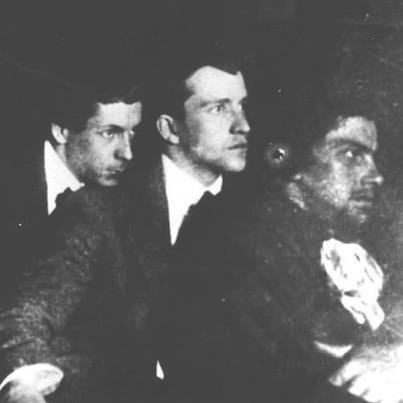 Фото Хлебникова Велимира с В. Маяковским 1912 год