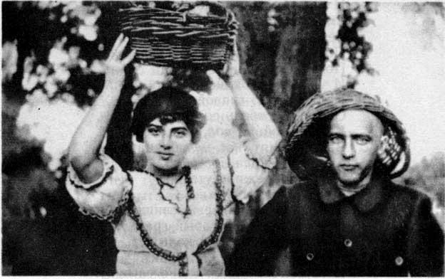 Фото Хлебникова Велимира с херсонской знакомой 1912 год