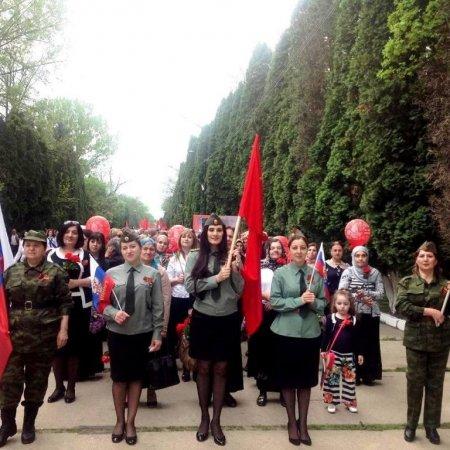 Праздничным шествием коллектив детского сада отметил День Победы!