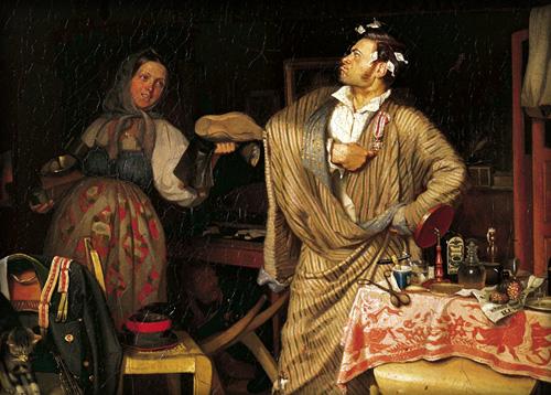 Федотов картина Свежий кавалер