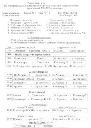 Завершился 1 этап  Всероссийской детской гандбольной лиги (ВДГЛ)
