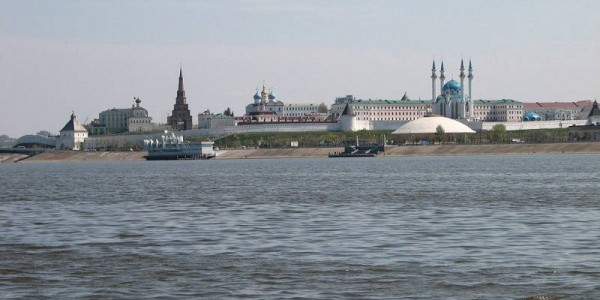 река Волга. Казань