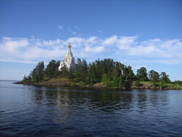 Ладожское озеро остров Коневец