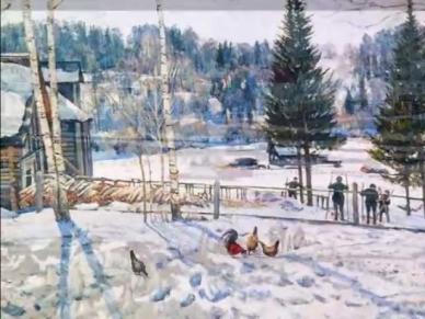 Сочинение по картине Конец зимы. Полдень