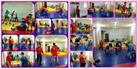 Открытое учебно-тренировочное занятие по греко-римской борьбе