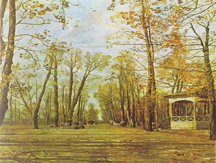 Сочинение по картине Летний сад осенью