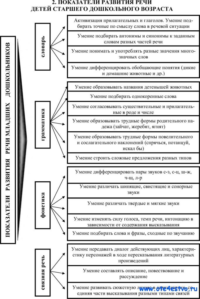 Схема развития раннего и дошкольного возраста6