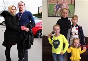 Сергей Мозякин с женой и детьми фото